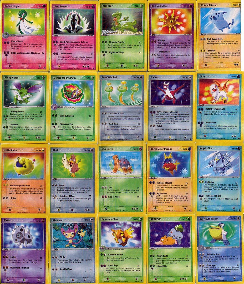 Fake Spanish Pokemon Cards By Alondra Chui On Deviantart Pokemon Cards Pokemon Printables Pokemon
