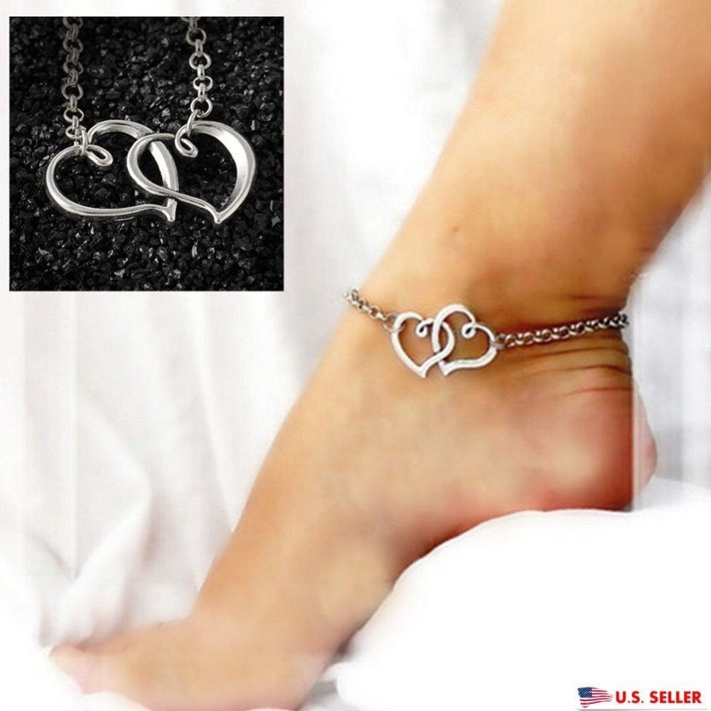 women anklet anchor female gift jewelry set from chain foot anklets bohemia for shape and crochet charming barefoot heart bracelets new jewellery product