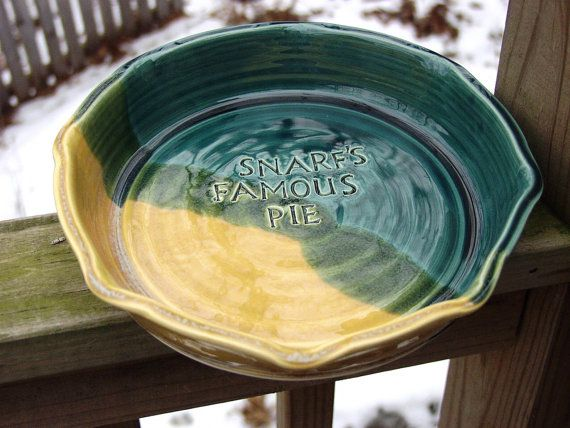 Items similar to Personalized Ceramic Pottery Pie Plate Baking Dish 10 inch Made to order on Etsy & Personalized Custom Pie Plate 10 inch Pie Plate by KbOriginalsetc ...