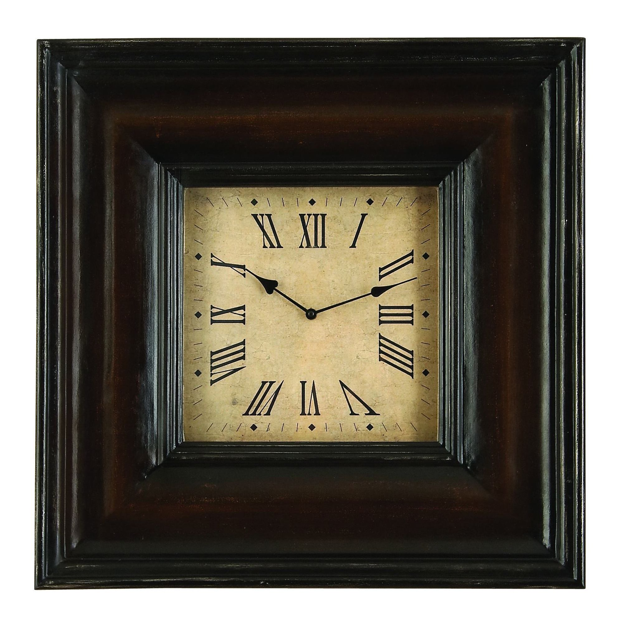 Studio 350 Rectangular Shape Wood Clock (Wood Clock IN Rectangular ...