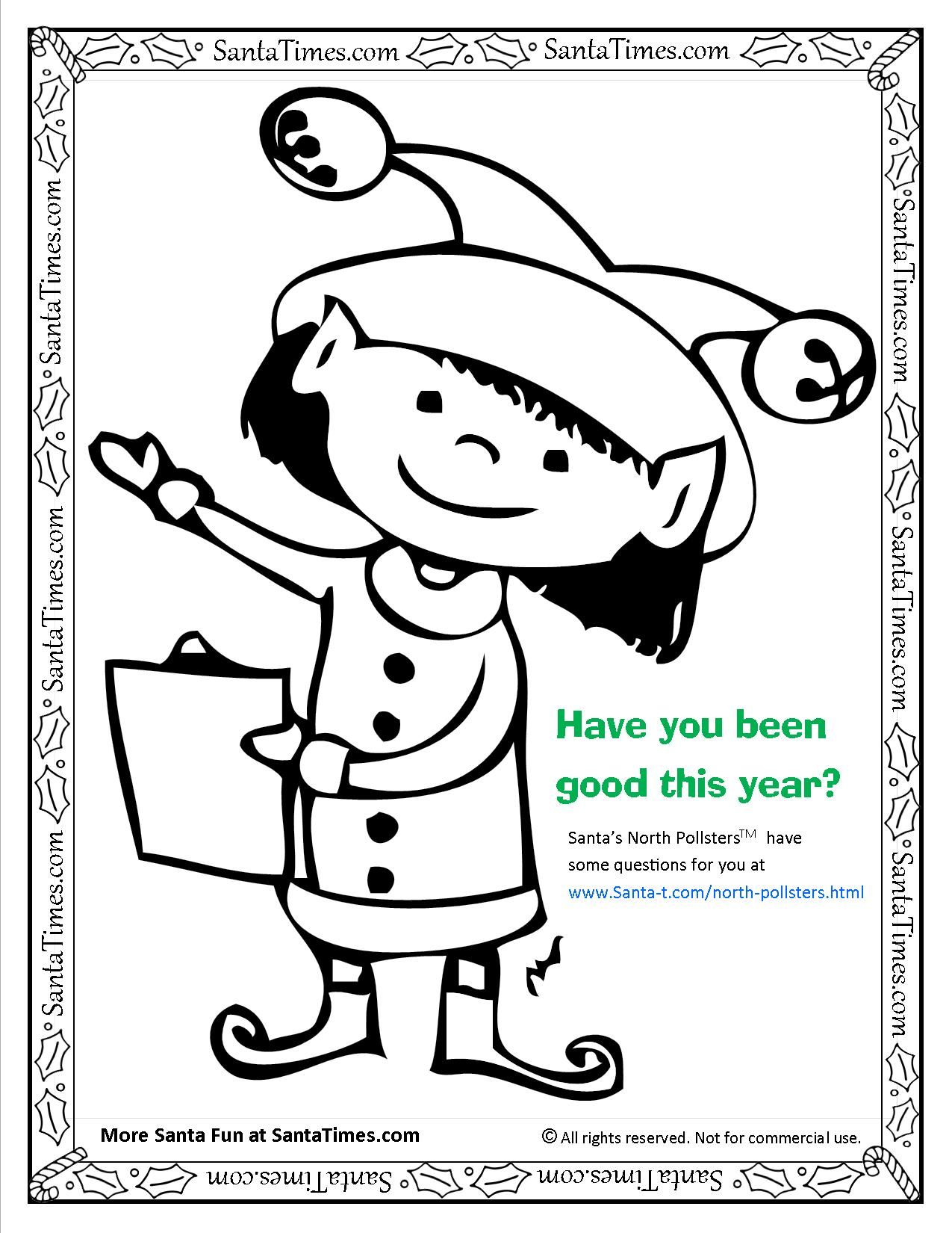 Have You Been Good This Year More Coloring Pages At
