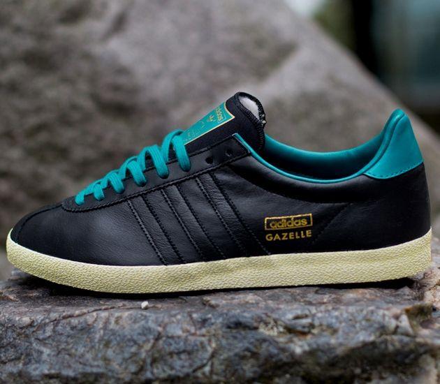 adidas gazelle og green black