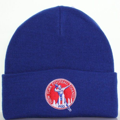 44f1b252e50 New York Football Giants Football Blue Throwback 1950 Beanie Hat - NFL NY  Cuffed Knit Toque