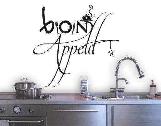 Wandtattoo Sprüche - Wandworte NoSF358 Bon #Appetit #Küche - wandtattoo küche guten appetit
