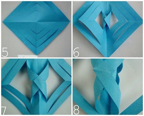 Estrella polar de papel una manualidad f cil y vistosa - Manualidades navidad papel ...