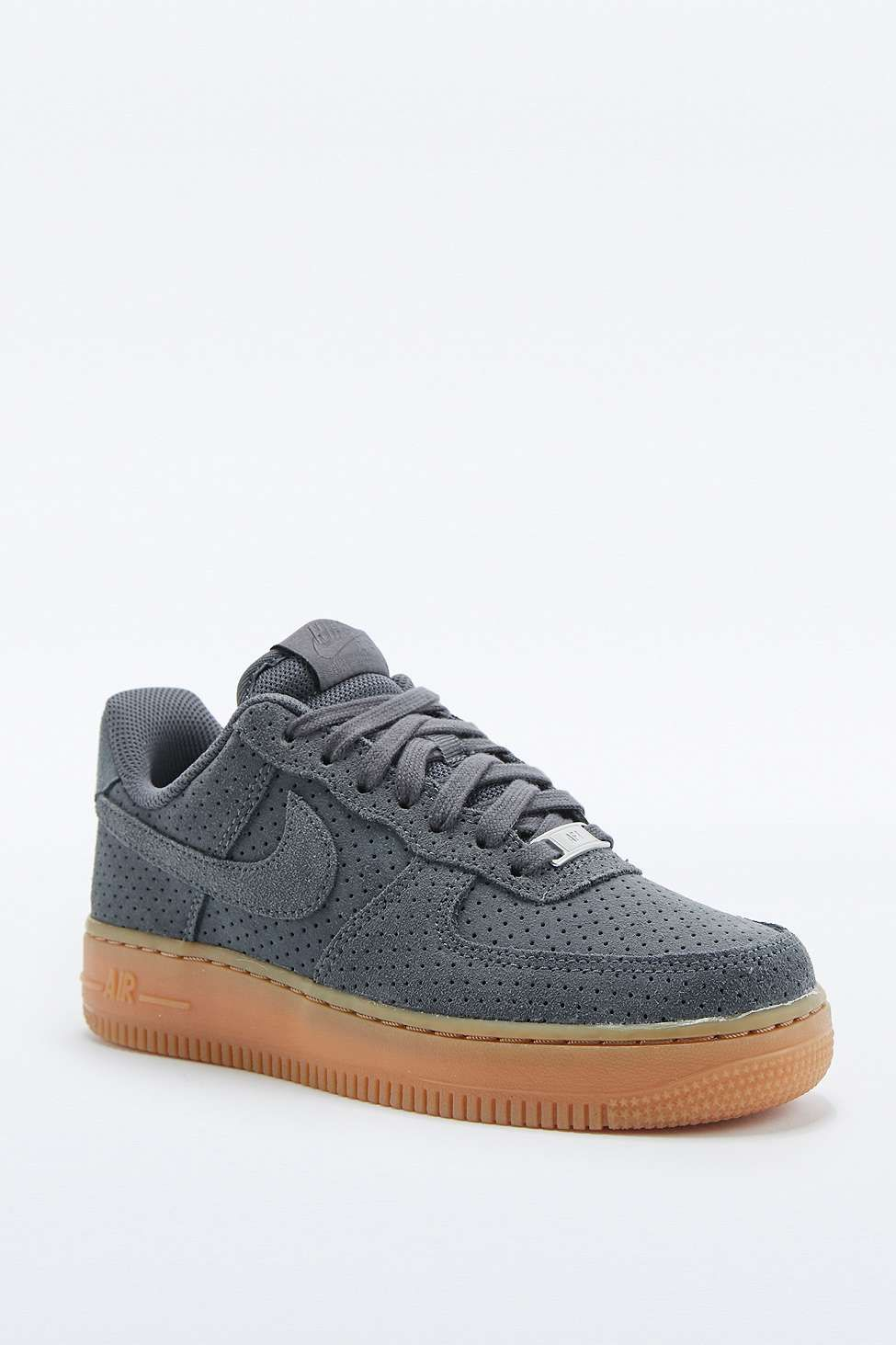 quality design 2883e ba71a Nike Air Force 1 Grey Suede Trainers