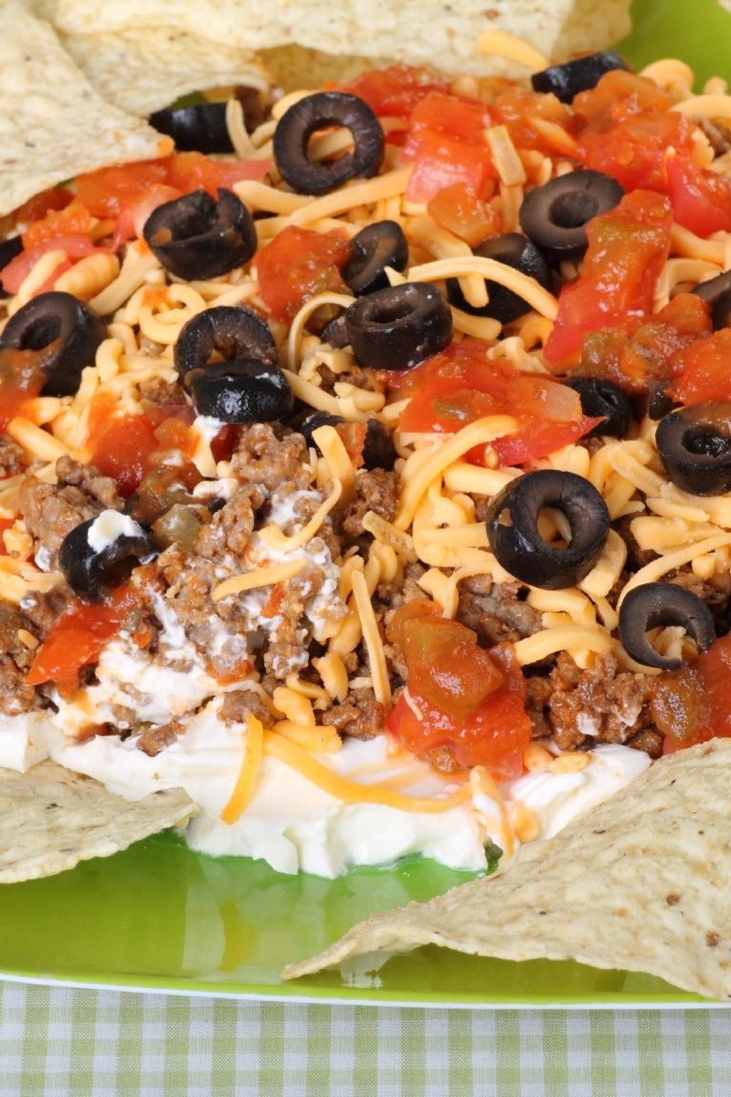Seven Layer Dip on Pinterest | Mexican Food Parties, Layer Dip and ...