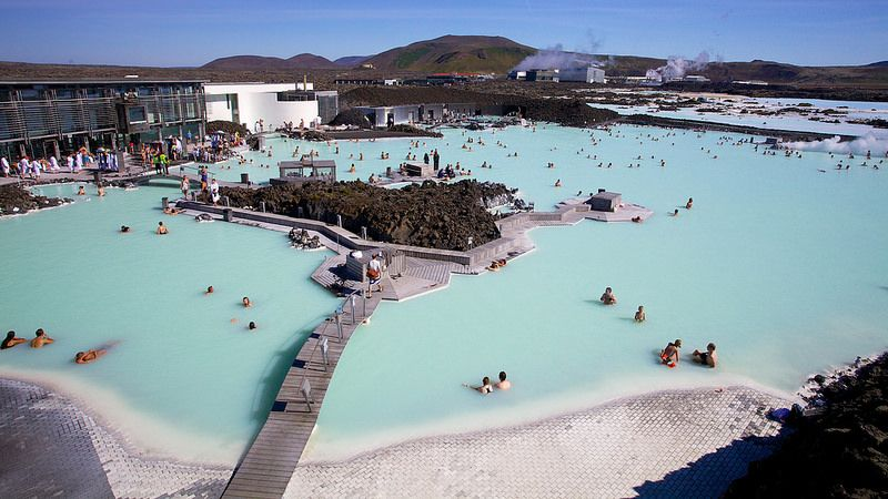 The classic dip in the pool, Iceland