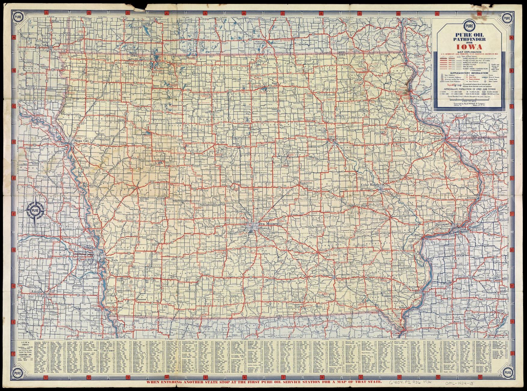 Iowa Road Map 1930 httpwwwoshermapsorgmap120460001