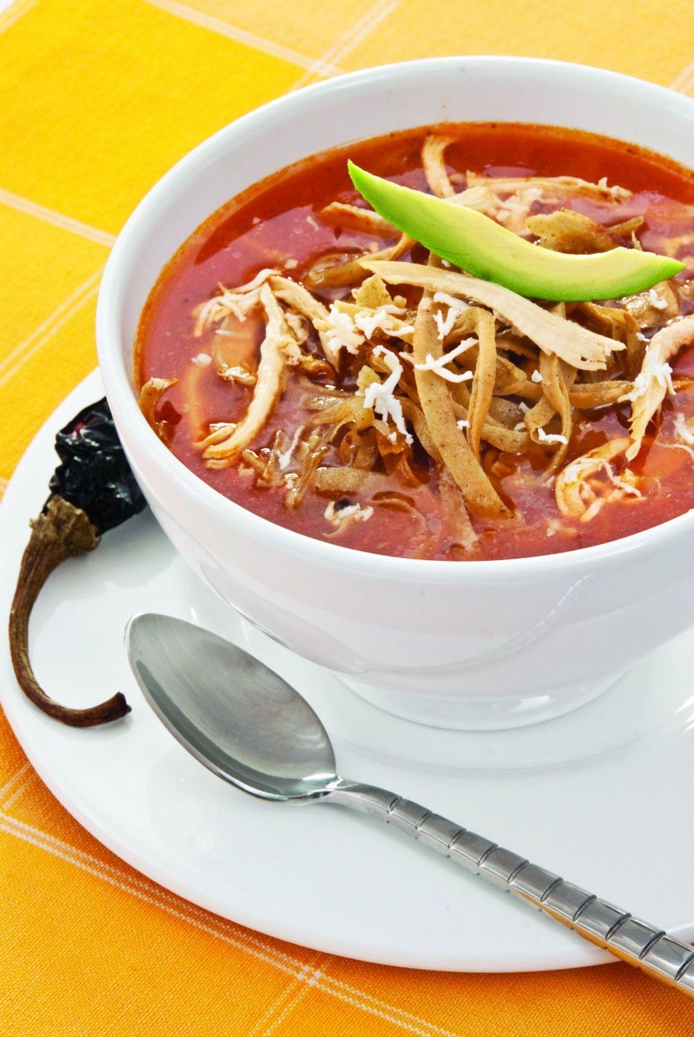 Un plato de sopa tlaxcalteca