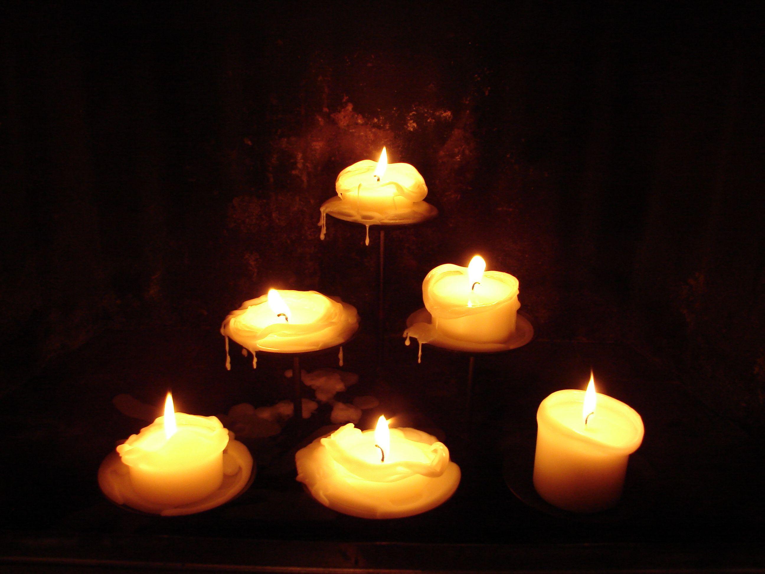 6 Pillar Candles Burned Down 2 by `FantasyStock on deviantART