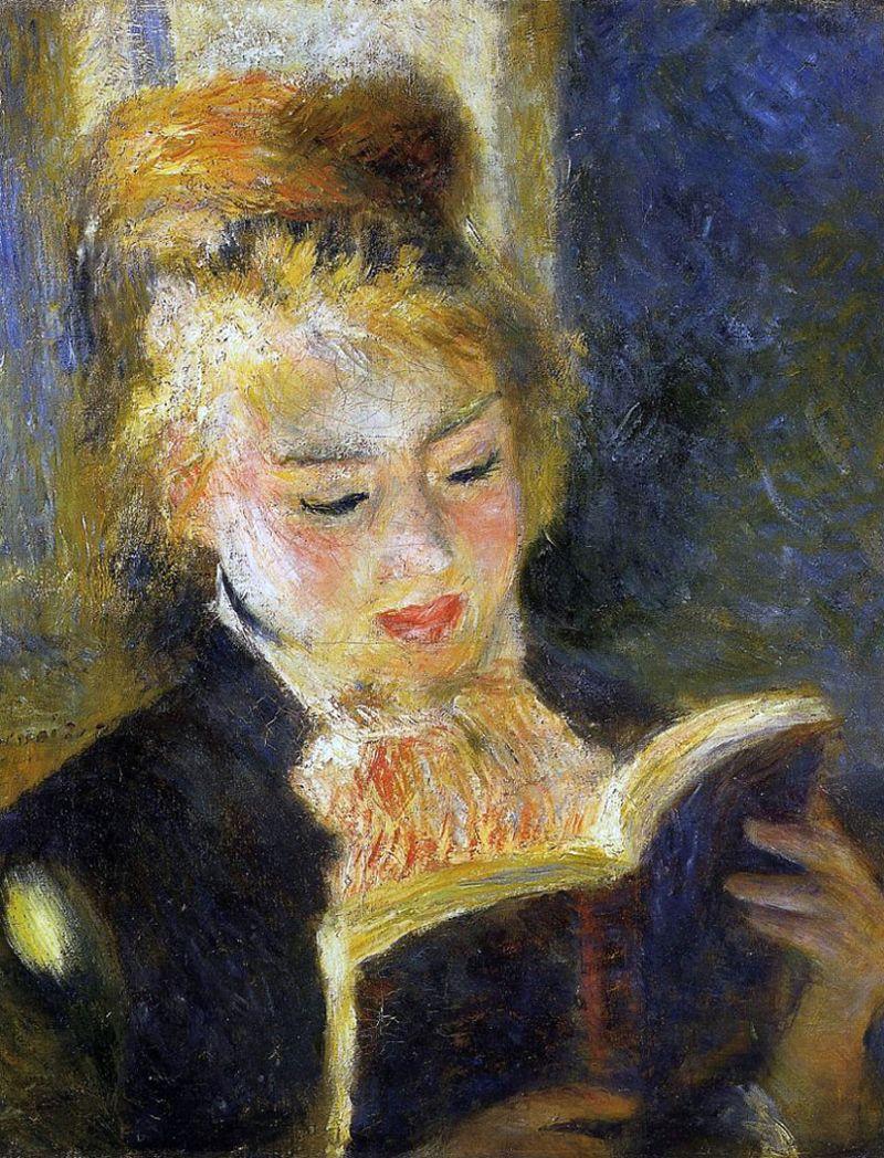 Pierre-Auguste Renoir Woman Reading By