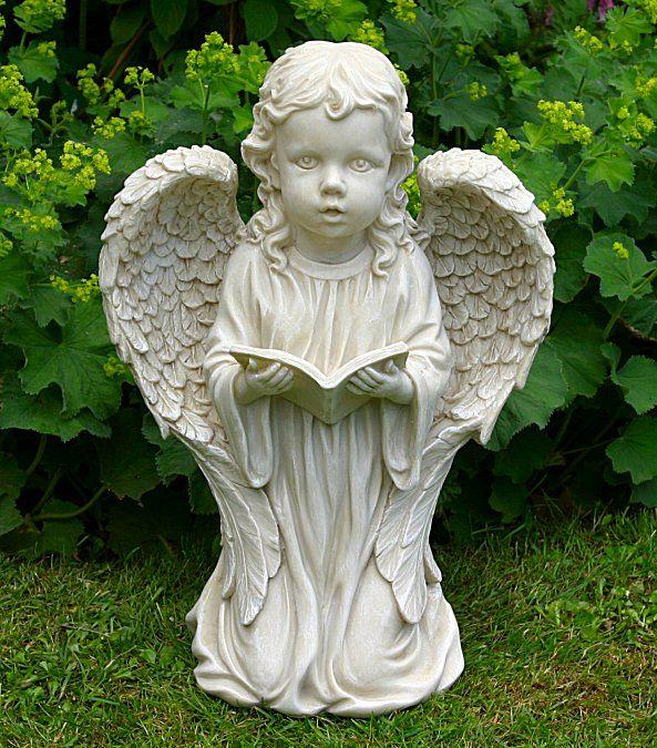 Kneeling Girl Angel Statue   Garden Ornaments Direct