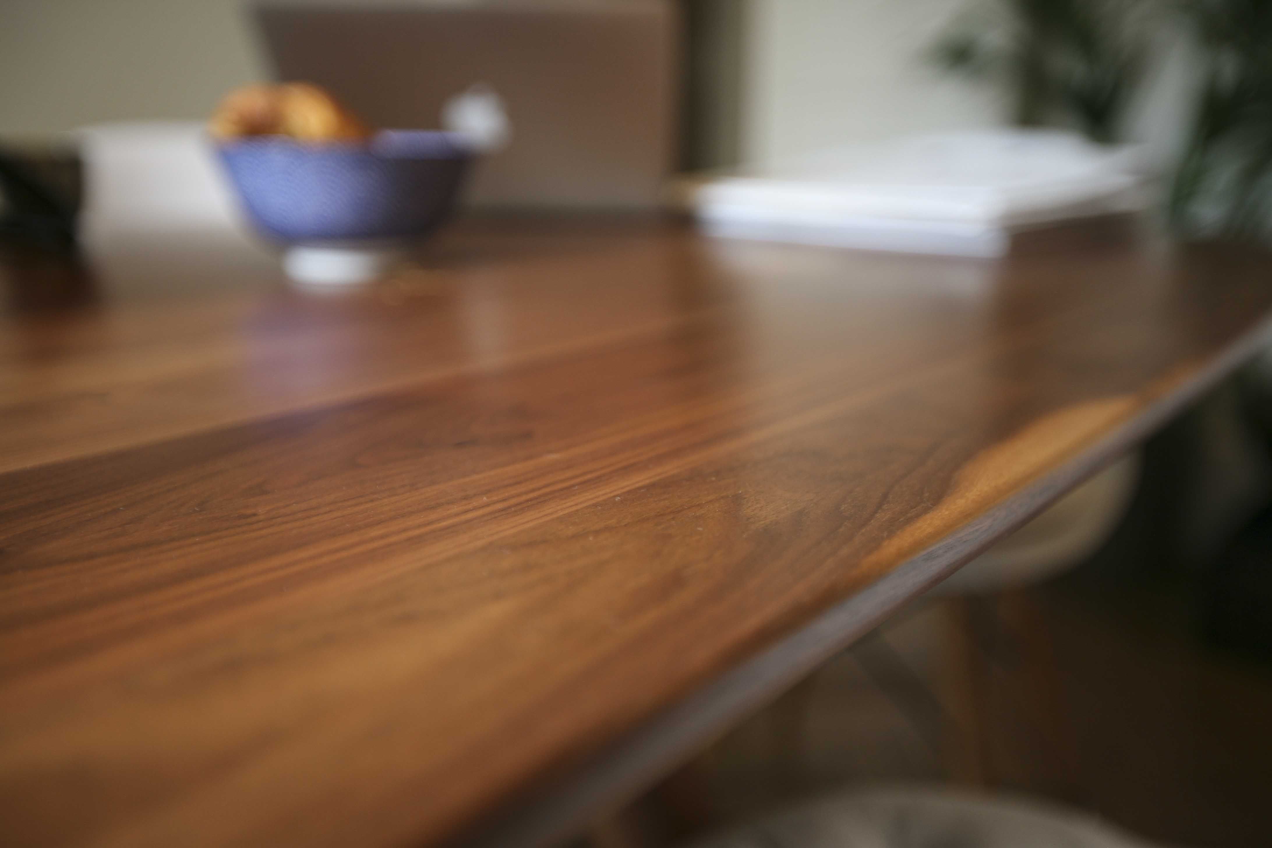 La Chance Rocky Credenza : Magnum table by pierre favresse walnut top and legs in an