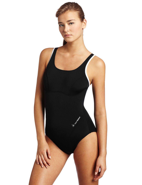 9c8120d2ff Aqua Sphere Women's Rachel Swimwear, (athletic, black, one piece, sport  swimwear, swim gear, swimming, swimsuit)