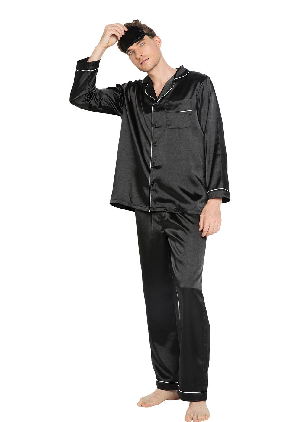 Like2Sea Silky Satin Pajamas for Men 8c5676355