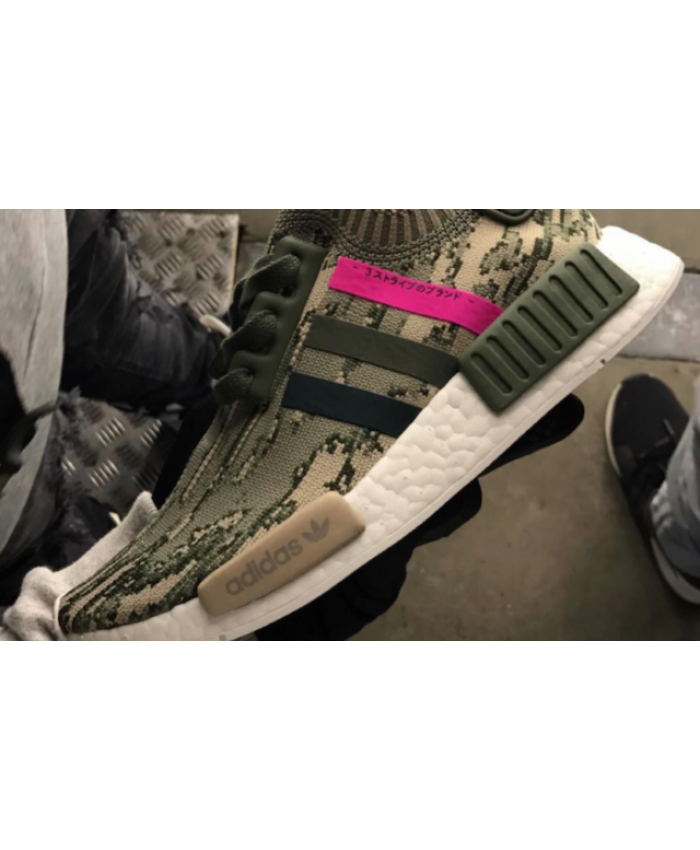 f640f98ea Adidas NMD R1 Primeknit Olive And Hot Pink Absolutely authentic ...