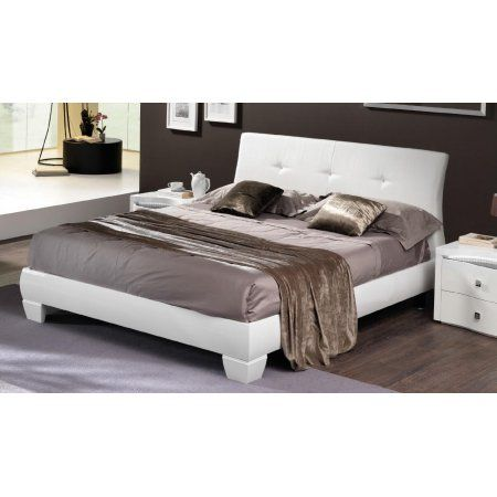 Esf Disco White Leather Eastern King Size Platform Bedroom Set 3pcs Clic Whitebedrooms
