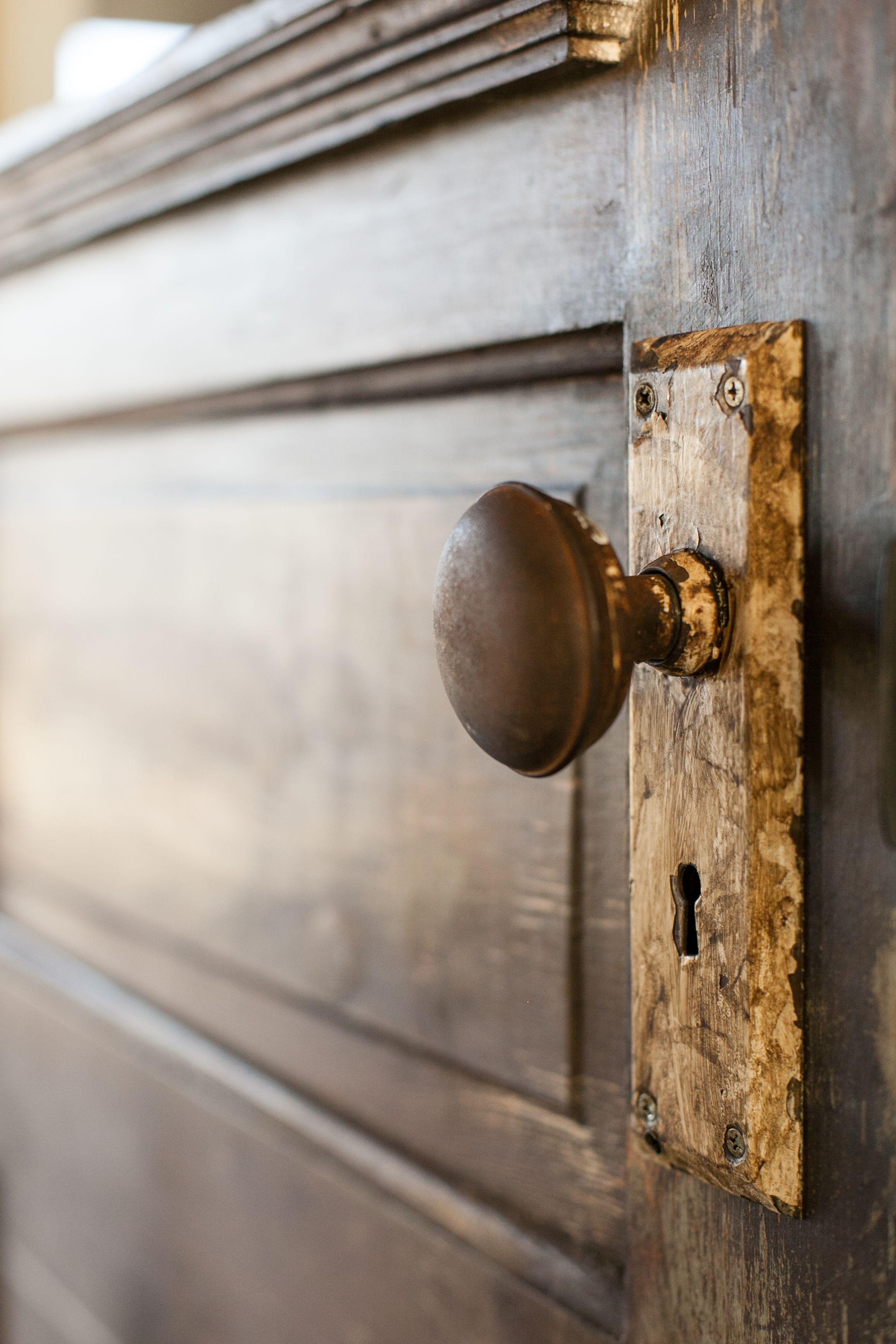 Original Mortise Lock On Repurposed Pantry Door By Rafterhouse Smart Door Locks Vintage Door