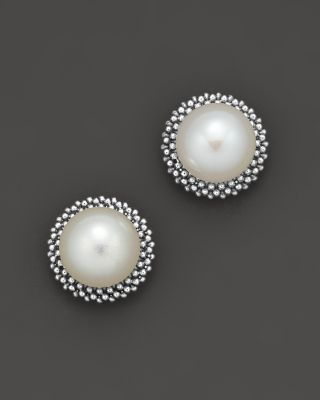 Lagos Sterling Silver Luna Pearl Stud Earrings Bloomingdale S