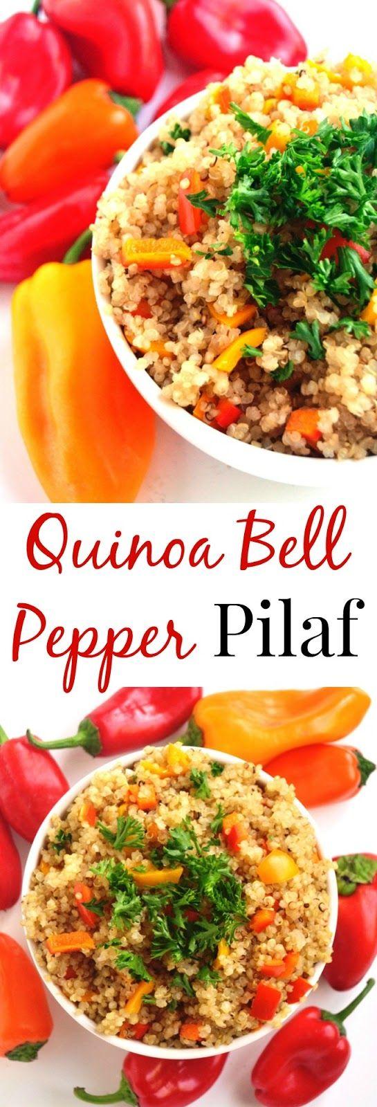 Quinoa Bell Pepper Pilaf