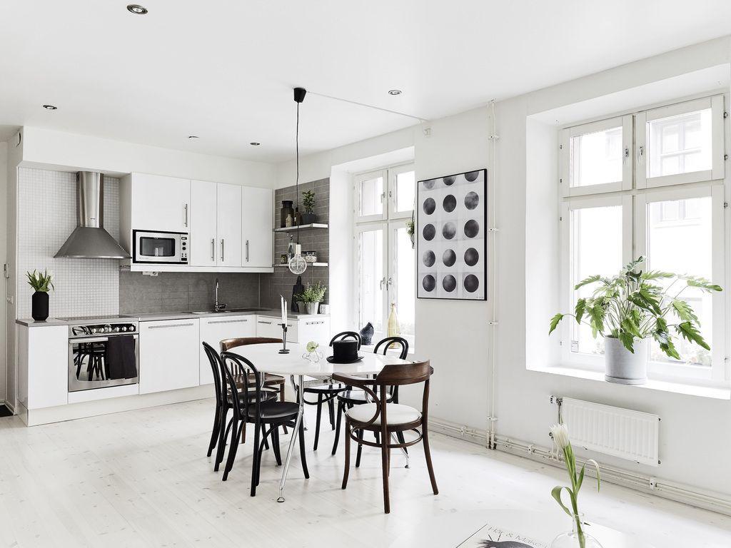 Nordic dining entrance fastighetsmäkleri interior design