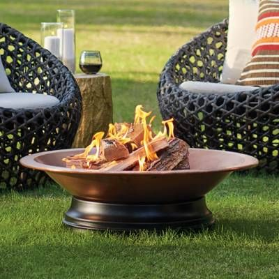 Gleaming with charm, our exclusive wood-burning Berkley Fire Pit is compact in size, ideal for a patio or smaller setting. The bowl is created in .90mm    copper, for strength and long-term durability as well as for copper natural, glowing beauty when in use. Made in Turkey, where the crafting of pure    copper and other metals has been a prized artisanal skill for centuries, our fire pit includes a solid iron log grate, and a sturdy base made of durable,    easy-care aluminum. It the per...