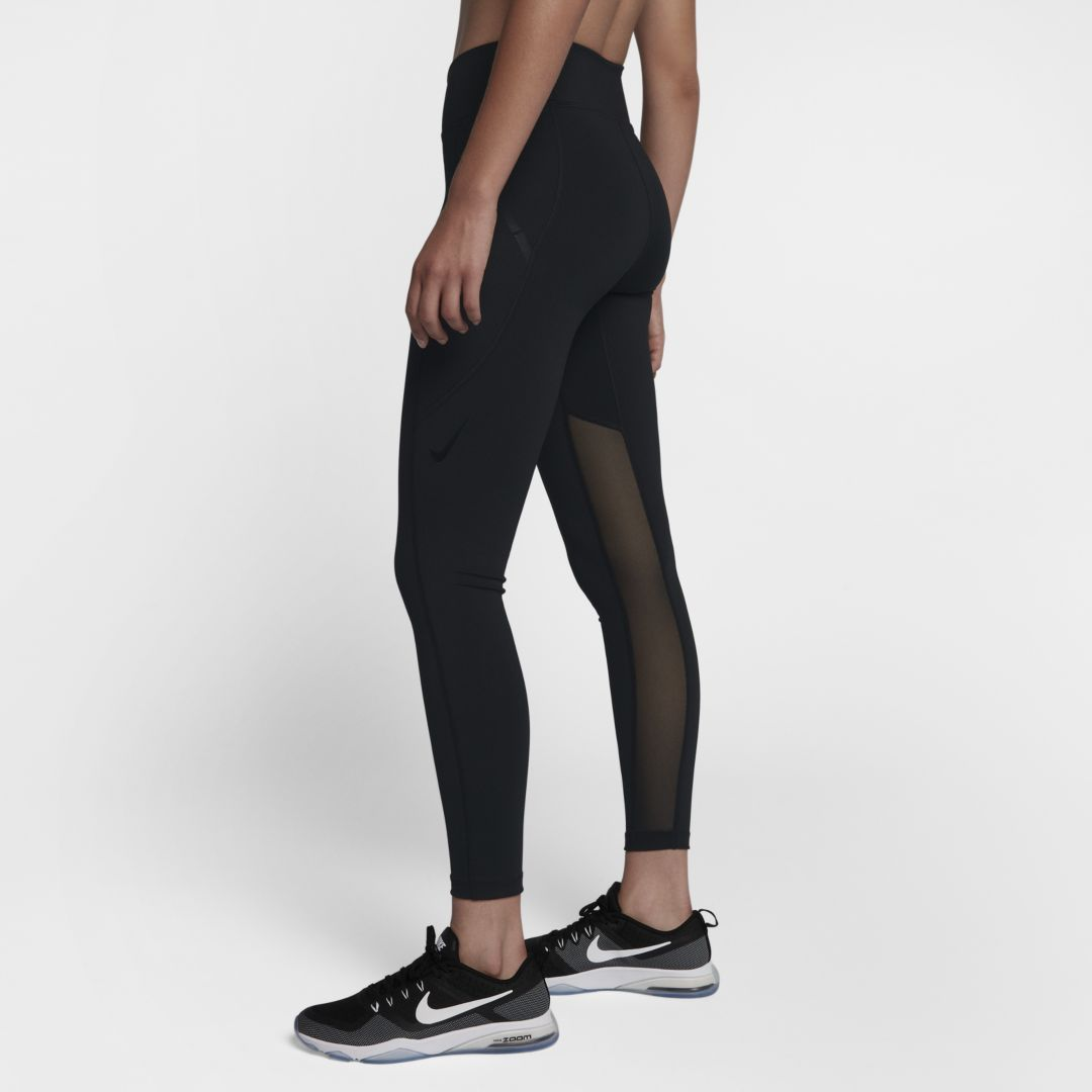 56a7bf1c557922 Nike Power Pocket Lux Women's High-Rise Training Tights Size XL Tall (Black)