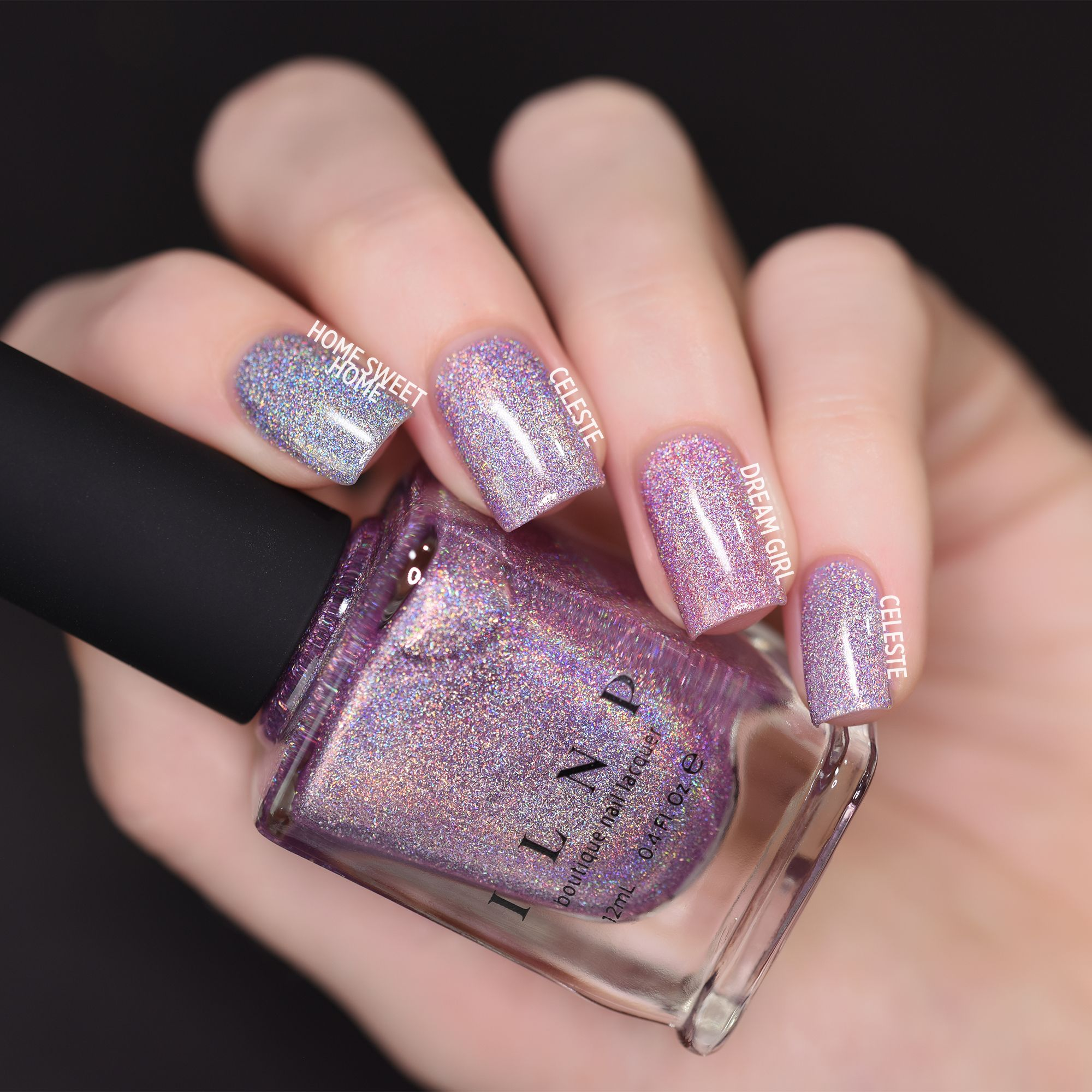 Celeste – Stunning Lilac Ultra Holographic Nail Polish by ILNP
