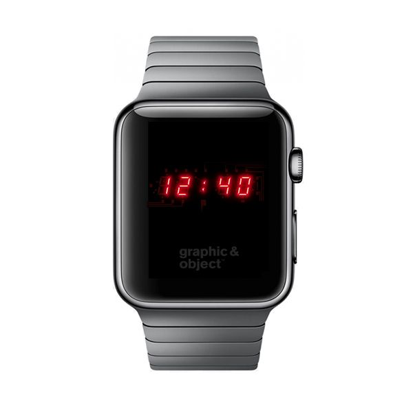 Apple Watch Retro Led Watch Face Graphic Object 2012 C Copyright