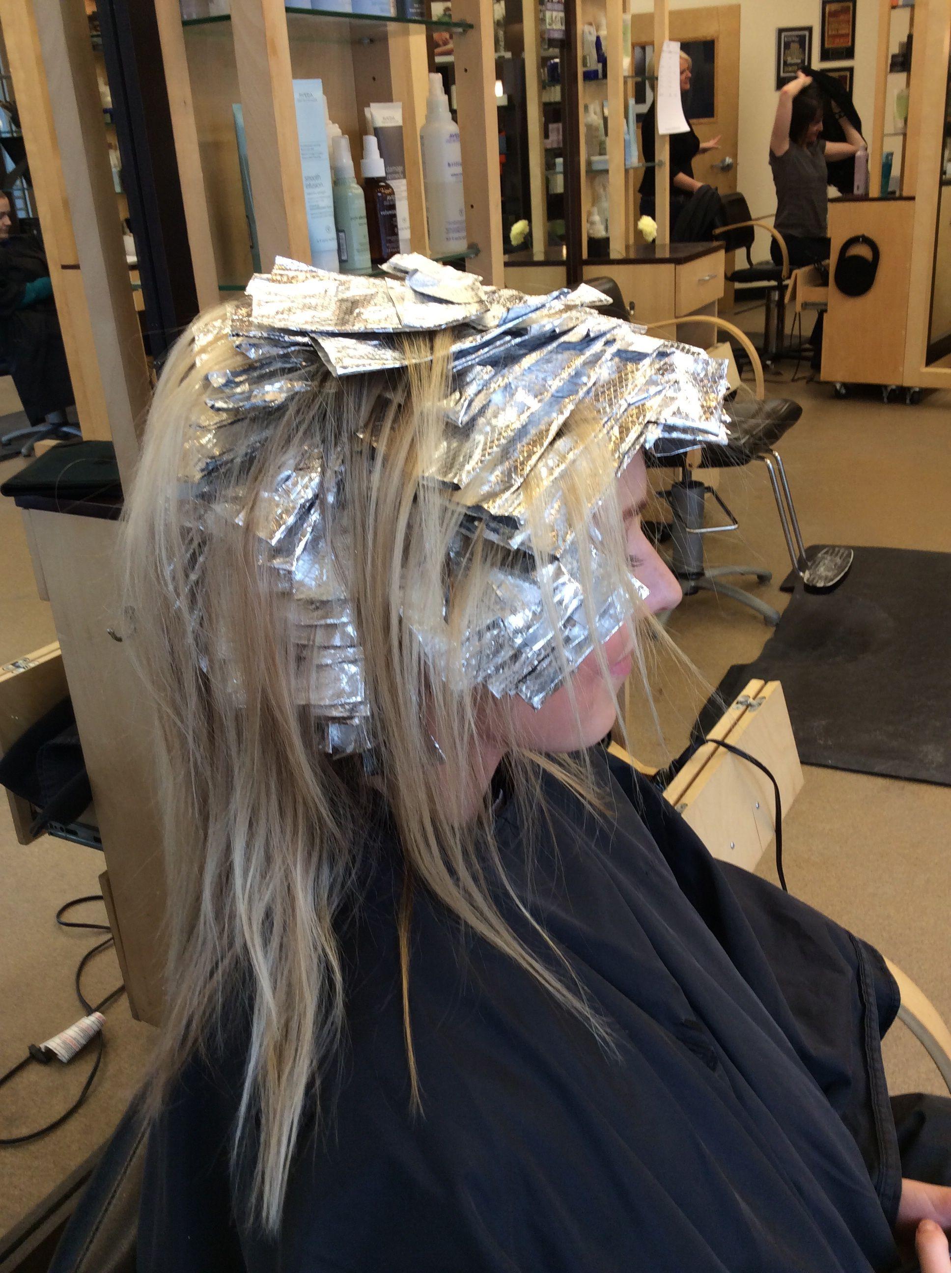 Full Highlight 11 Part Bleached Hair Hair Color For