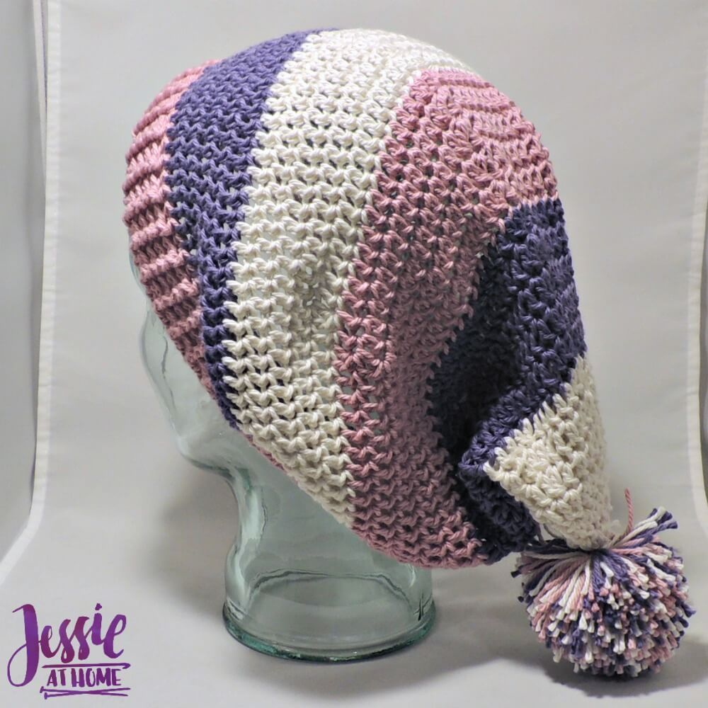 Stripey Stocking Hat | Pinterest | Jessie, Free crochet and Stockings