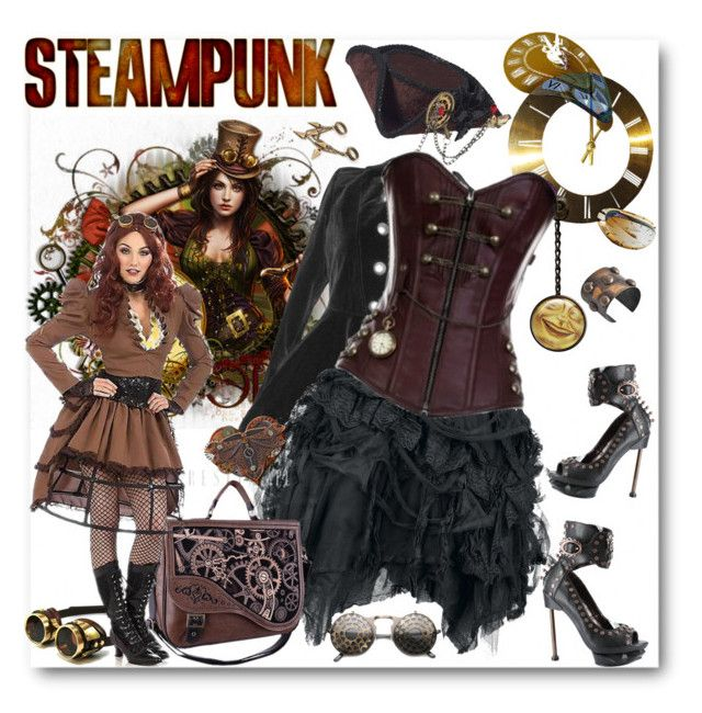 """""""STEAMPUNK"""" by purplerose27 ❤ liked on Polyvore"""