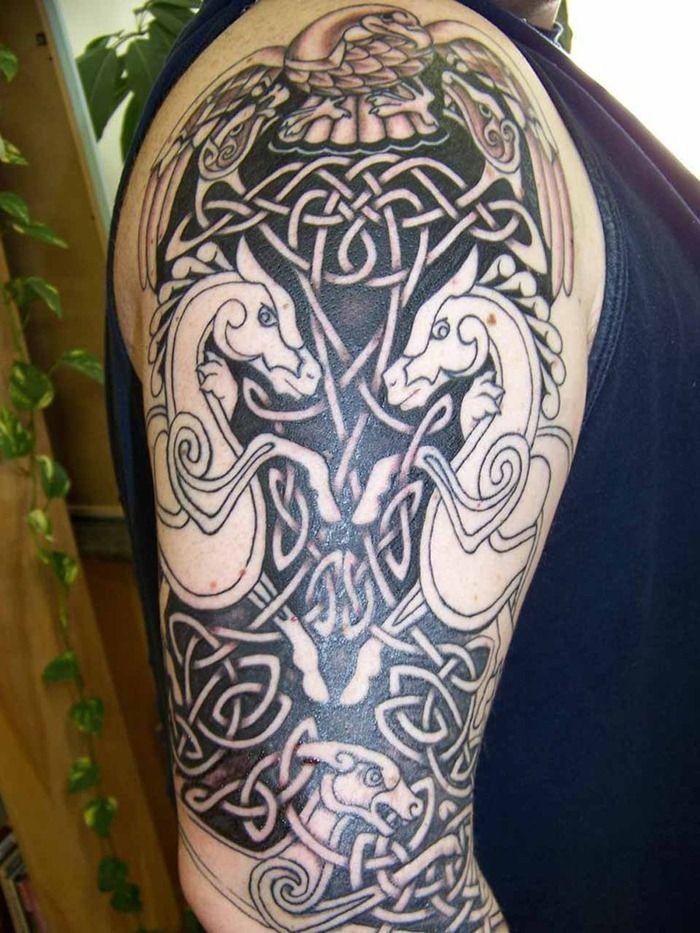 Celtic Tattoos Sleeve Horse Celtic Tattoo Cool Tattoos
