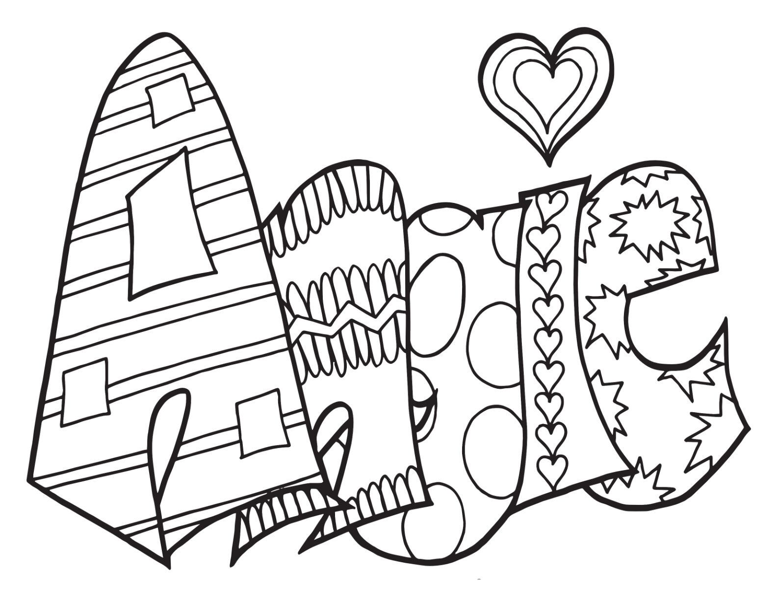 Angie Free Printable Coloring Page Stevie Doodles Name Coloring Pages Free Printable Coloring Pages Abstract Coloring Pages