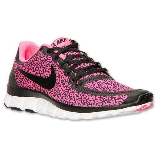 96e2dd08debdf ... Womens Nike Free 5.0 V4 Running Shoes - 511281 018 Finish Line Black ...