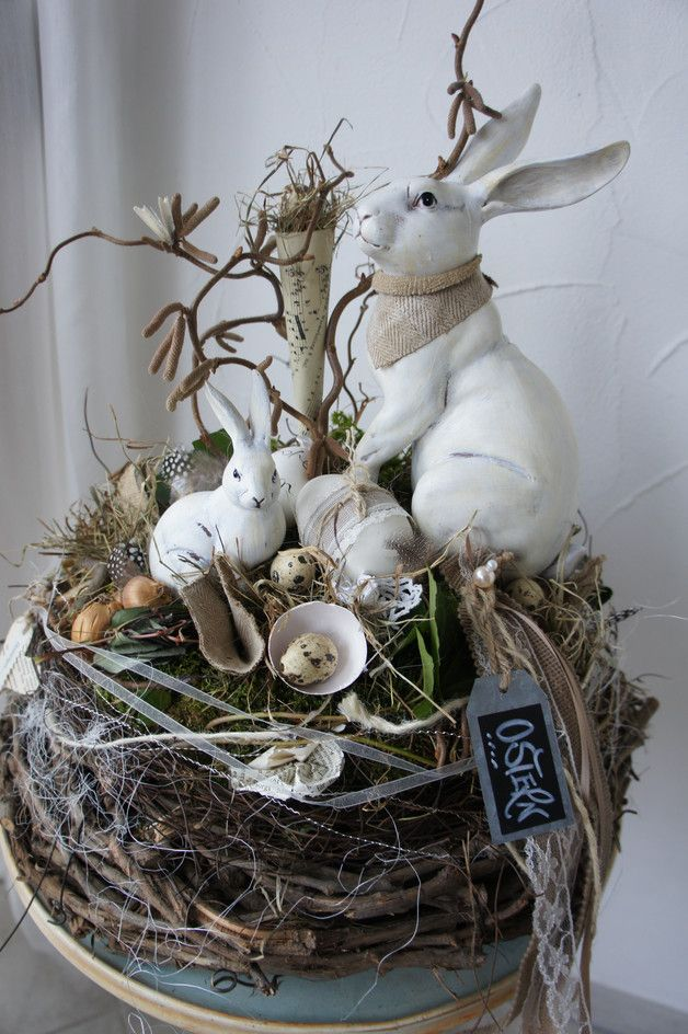 Photo of A wonderfully natural table wreath ….. on a robust wreath (can later …