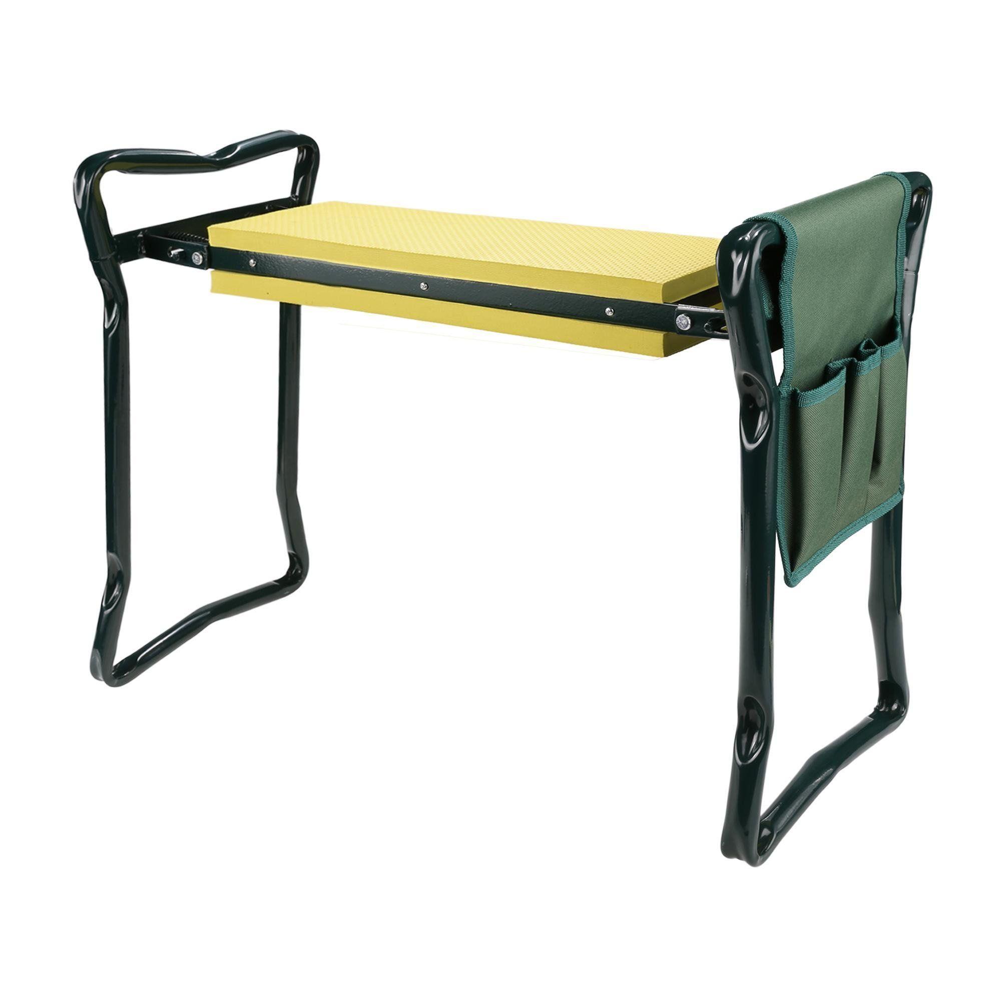 yellow Mewalker Foldable Garden Kneeler Seat with Bonus Tool Pouch Portable Stool EVA Foam Pad US STOCK