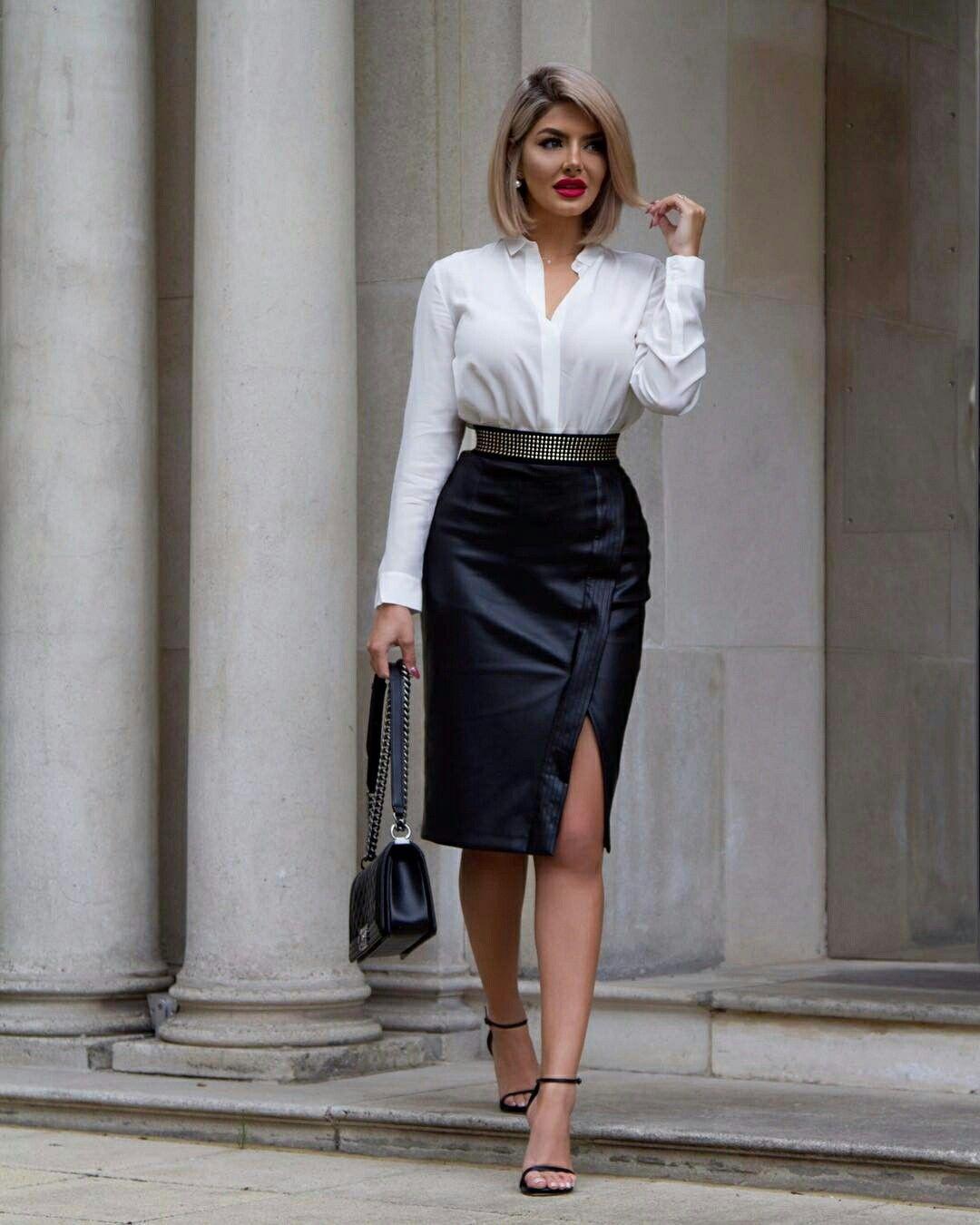 beadd390153 Classy Sheida Leather Fashion