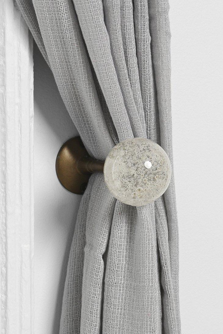 Plum Bow Clear Glass Curtain Tie Back Curtain Tie Backs