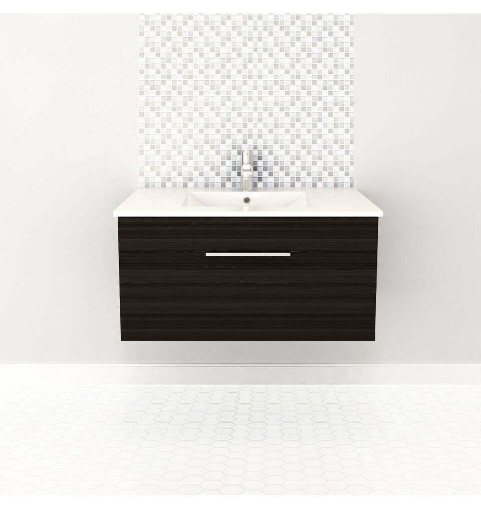Cutler Kitchen And Bath Silhouette 30 In Wall Mount Bathroom Vanity 2 Drawers With Top White Chocolate Kitchen And Bath Wall Hung Vanity Bathroom Vanity
