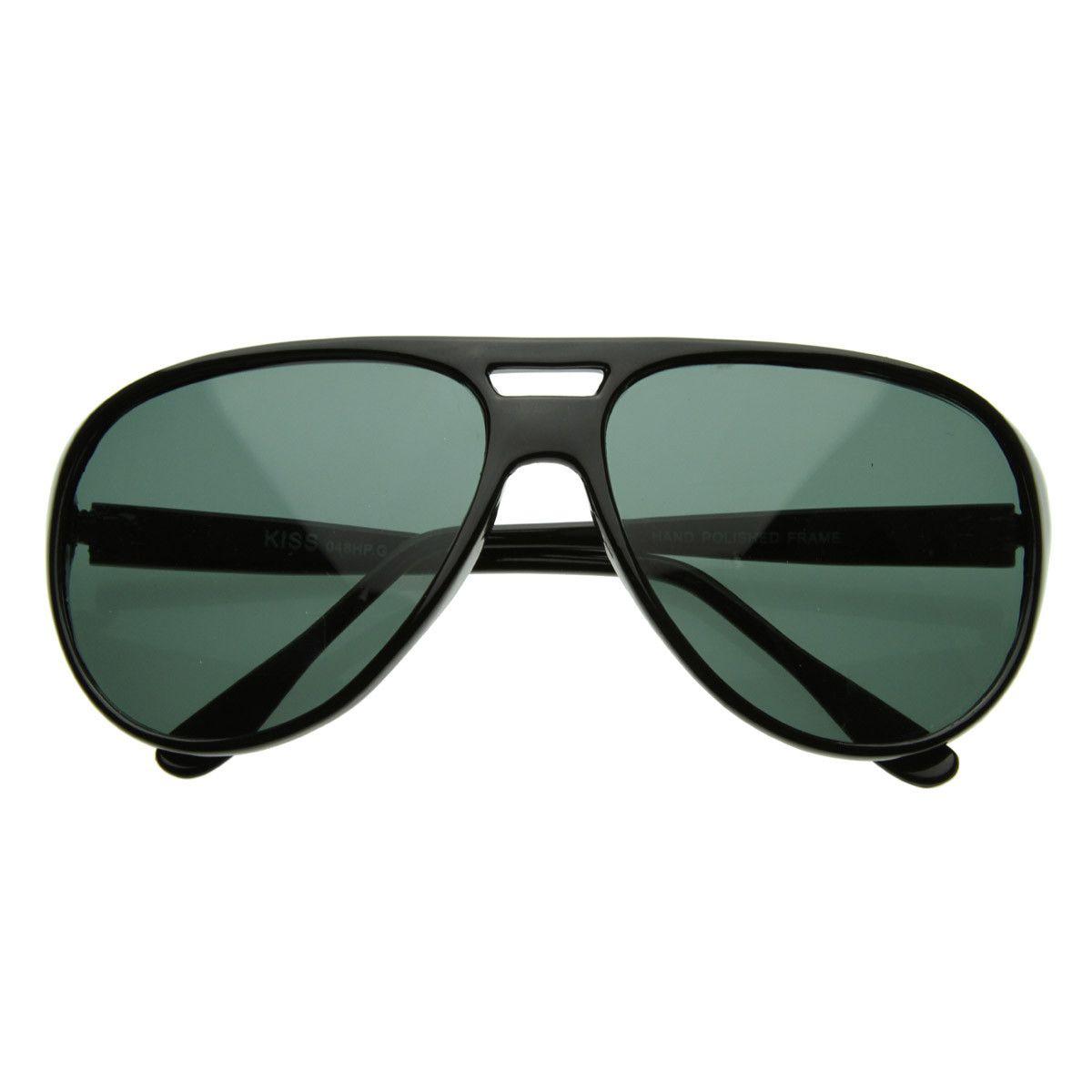 Retro Fashion Sunglasses Square Plastic Frame Unisex Aviators Mirror Lens