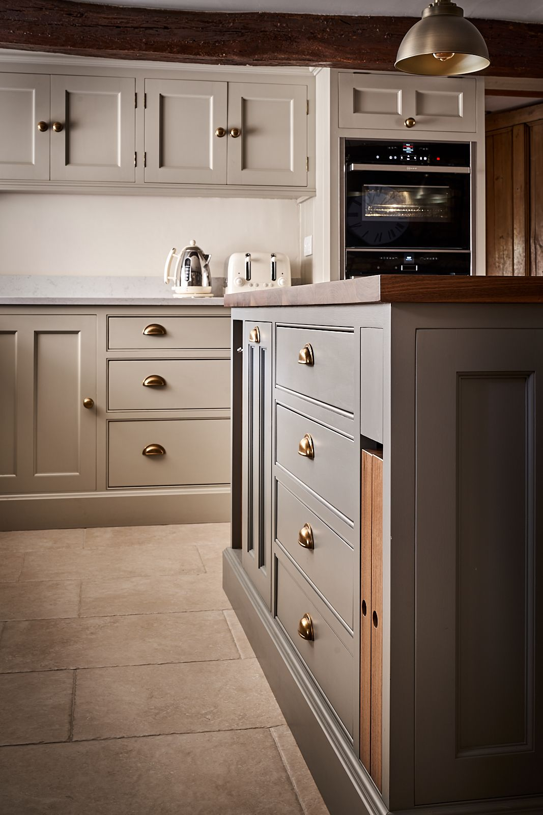 Best Bespoke Cottage Kitchen Painted In Zoffany Smoke And 400 x 300