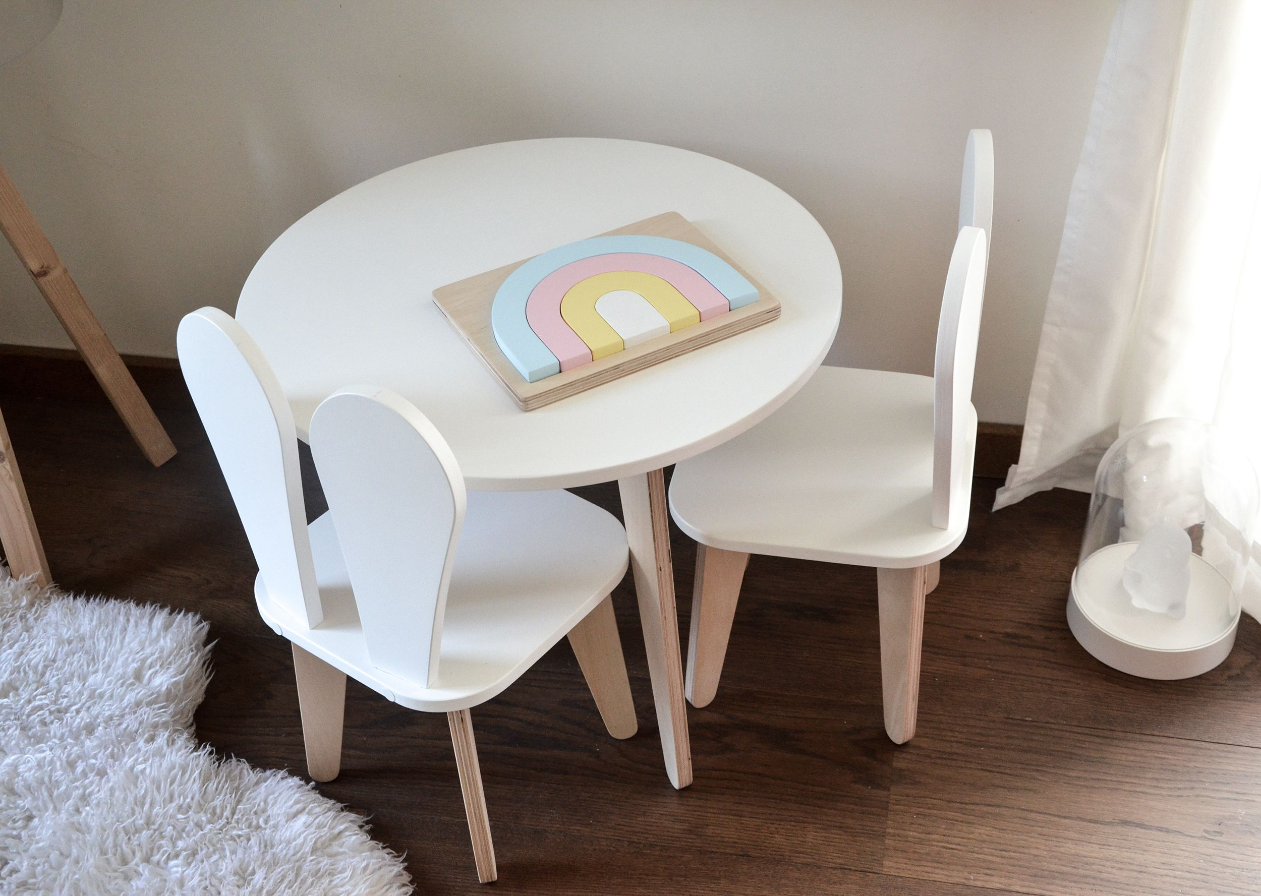 Kids Chair And Table Set Bunny Chair Wooden Chair Plywood Furniture Baby Furniture Toddler Furniture Furniture