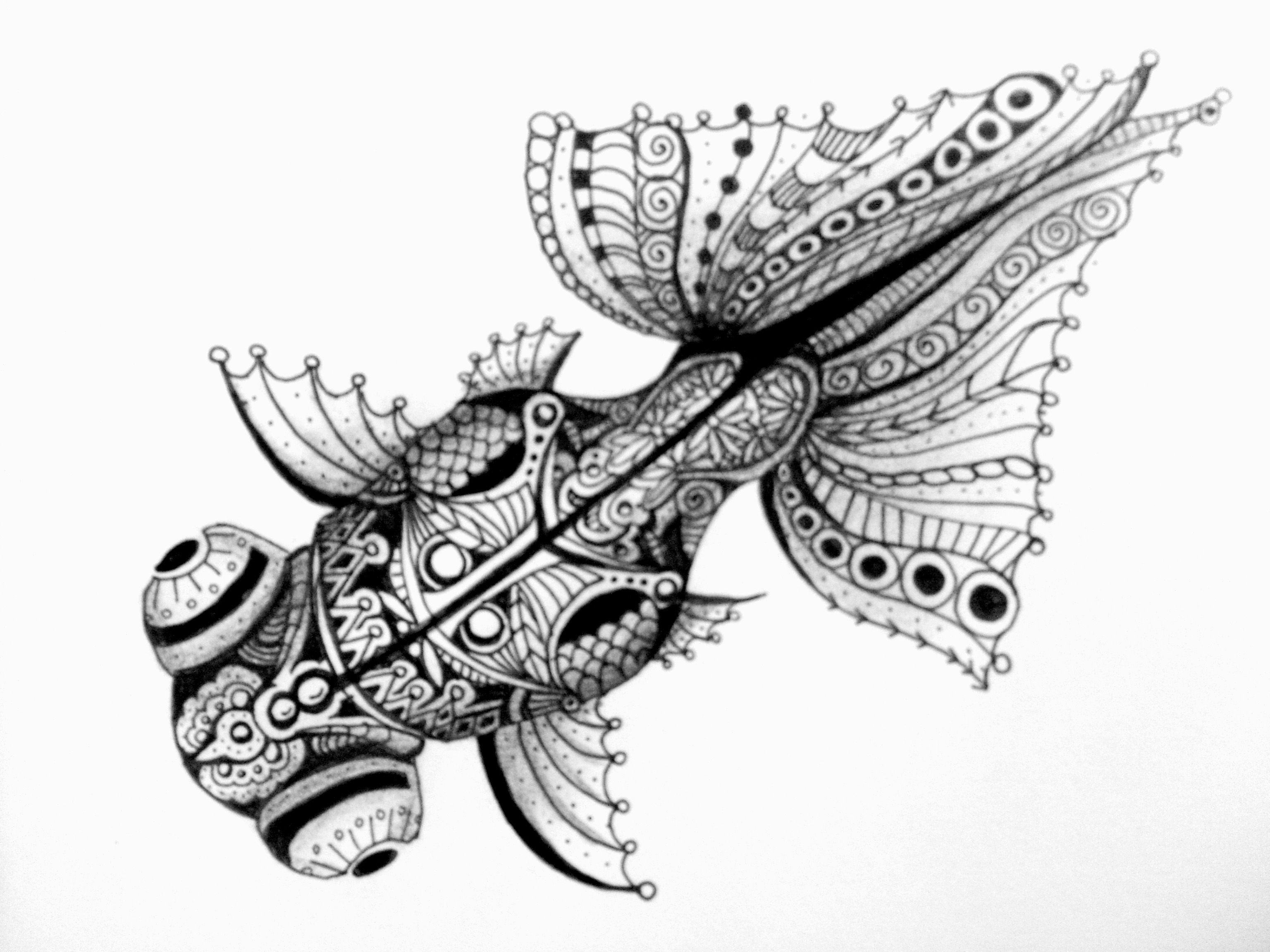 how to create a zentangle animal