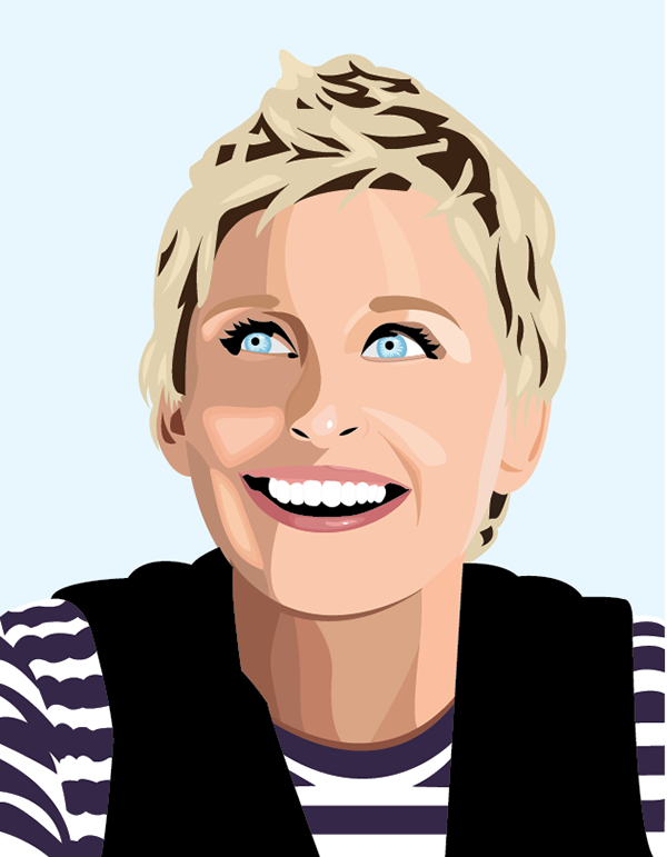 Image Result For Caricature Of Ellen Degeneres Celebrity Art Portraits Caricature Celebrity Art