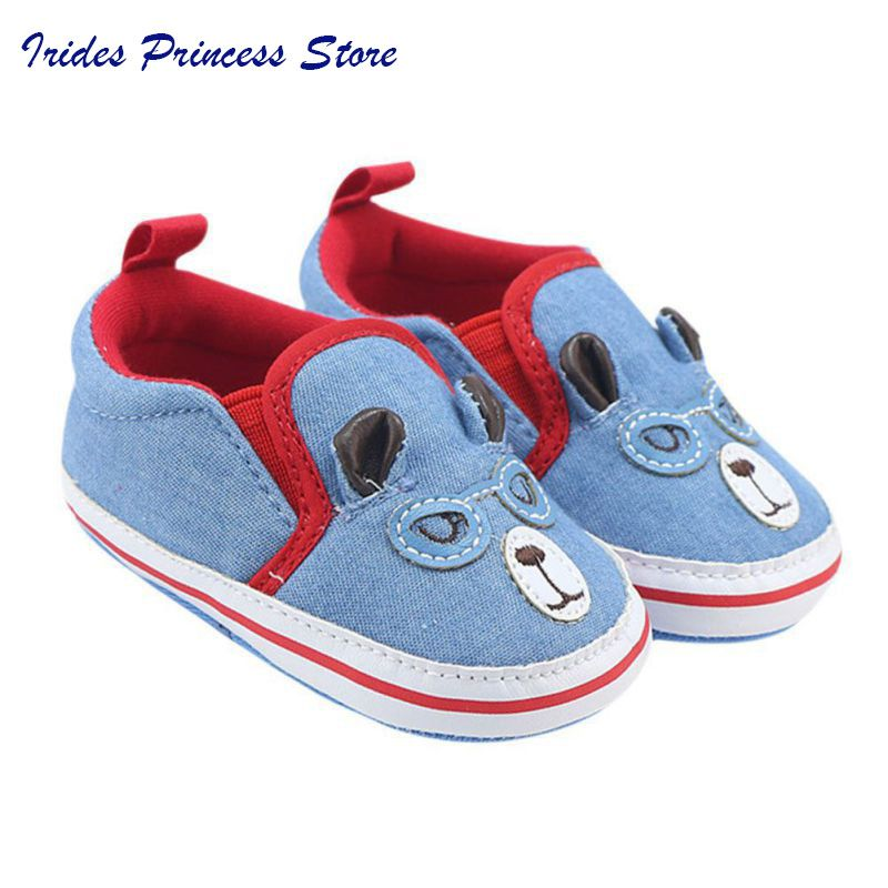 8b80f53bf1e7 Click to Buy    Autumn Soft Sole Cartoon Boy Baby Shoes First Walkers