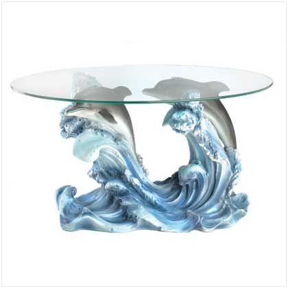 Fascinating Figural Table Brings Museum Quality Art To Your Very Own Living  Room! An Enchanting Dolphin Sculpture Forms A Stunning Base For A Designer  ...