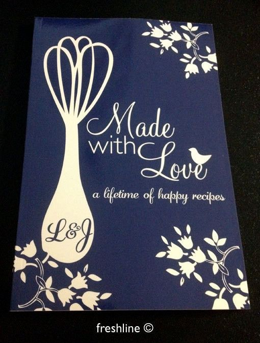 Recipe Book Custom Bridal Shower Gift Wedding