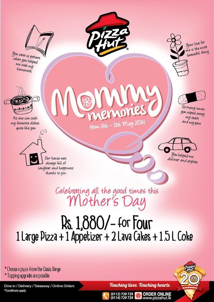 Celebrate #Mothers #Day #with #Pizza #Hut! #SriLanka | e-Mail ...